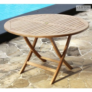 Wiltshire 1.2m Round Teak Table 1