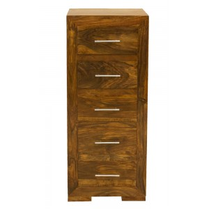 Cuba Sheesham 5-Drawer Tall Chest