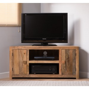 Dakota Light Mango Large Corner TV Unit