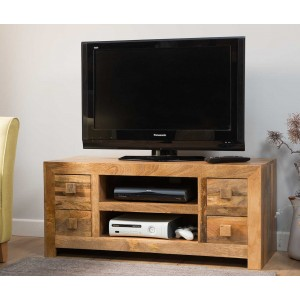 Dakota Light Mango Low TV Unit