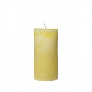 Yellow Pillar Candle - Tall