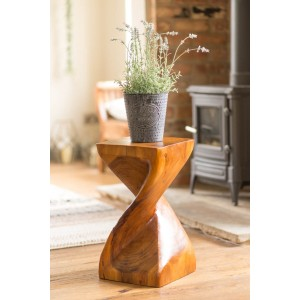 Large Solid Twist Table - Honey