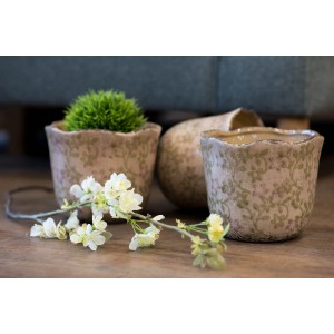 Rustic Dusky Pink Planter - Medium