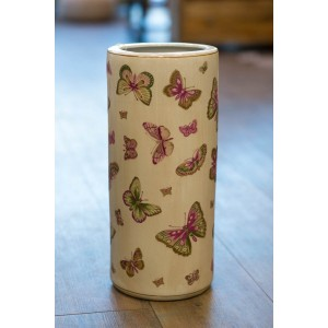 Ceramic Umbrella Stand - Butterfly