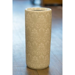 Ceramic Umbrella Stand - White Lace
