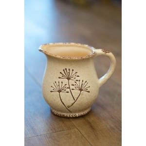 White Dandelion Jug - Short