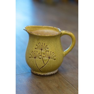 Yellow Dandelion Jug - Short