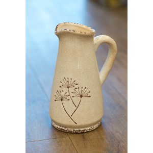 White Dandelion Jug - Tall