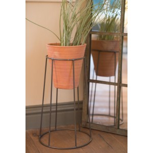 Terracotta & Iron Pot Stand