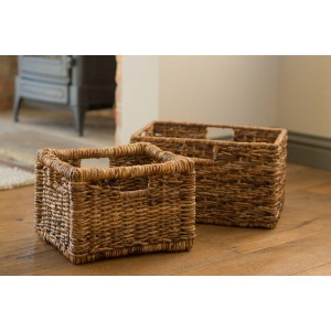 Small Rattan Storage Basket - Natural