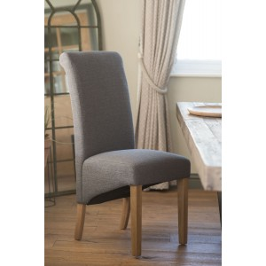Amalfi Fabric Dining Chair - Slate