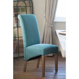 Amalfi Fabric Dining Chair - Aqua