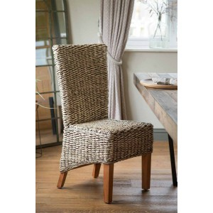 Milano Rattan Dining Chair - Light Leg
