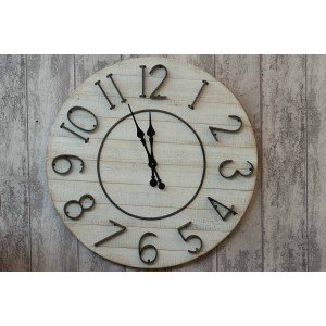 Large Limed Wood Clock