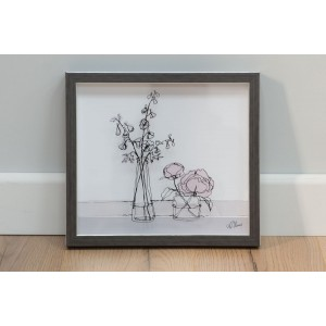 Larkspur & Peony - Image Printed on Glass