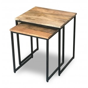 Imari Industrial Mango Nest of 2 Tables