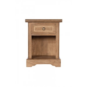 Florence Mango and Stone 1 Drawer Bedside Table 1