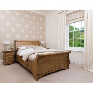 Florence Mango and Stone Double Sleigh Bedstead 1
