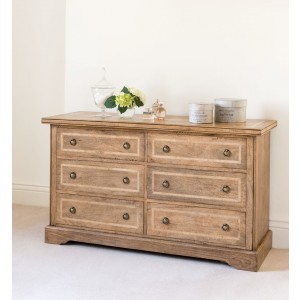 Florence Mango and Stone 6 Drawer Chest 1