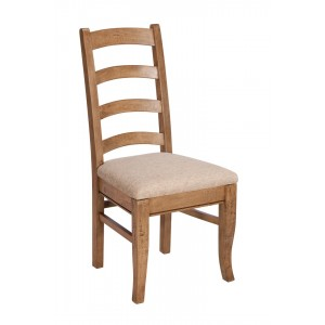 Florence Mango and Stone Ladder Back Dining Chair 1