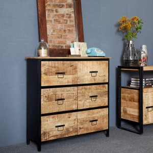 Imari Industrial Mango 6 Drawer Chest
