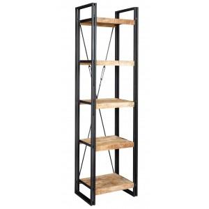 Imari Industrial Mango Slim Open Bookcase