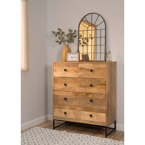 Imari Industrial Mango 2+3 Chest Of Drawers