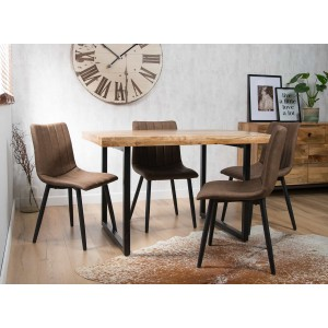 Imari Industrial Light Mango 4-Seater Dining Set - Arizona Chairs