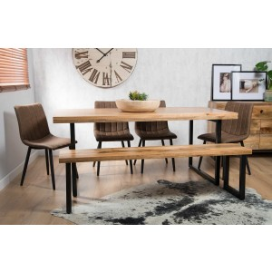 Imari Industrial Mango 6-Seater Dining Bench Set - Arizona Chairs