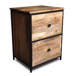 Imari Industrial Mango Bedside Table