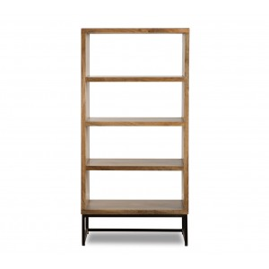 Imari Industrial Mango Tall Hi-Fi Shelving Unit