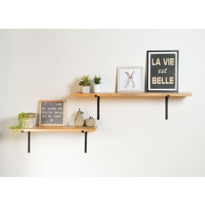 Imari Industrial Mango Wall Shelf