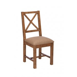 Brooklyn Industrial Cross Back Upholstered Dining Chair