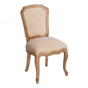Florence Mango & Rattan Back Chair 1