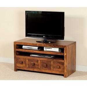 Dakota Mango Medium 4-Drawer TV Unit (CLEARANCE)