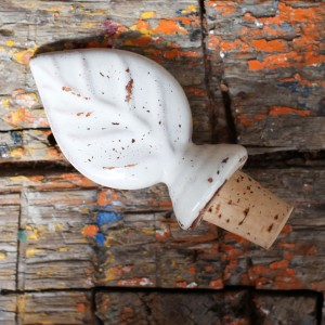 Ceramic Leaf Bottle Stopper