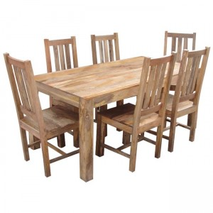 Mango Natural 6-Seater Dining Set