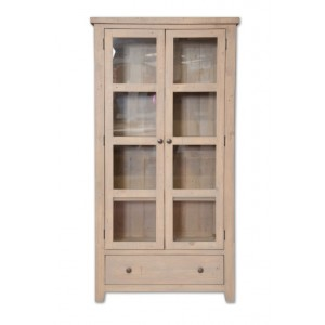 Cotswold Reclaimed Glazed Display Cabinet