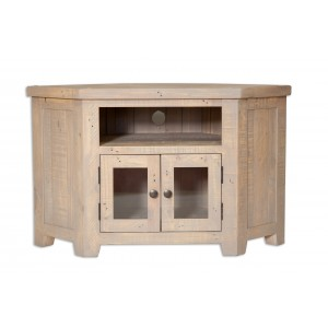 Cotswold Reclaimed Pine Glazed Corner TV Unit