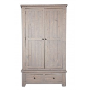 Cotswold Reclaimed Pine 2 Door Wardrobe
