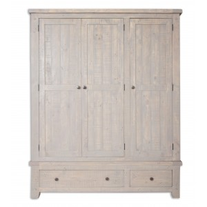 Cotswold Reclaimed Pine 3 Door Wardrobe