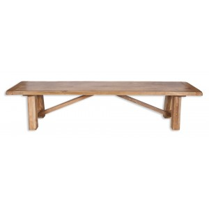 Farmhouse Light Mango Trestle Bench 1.75m