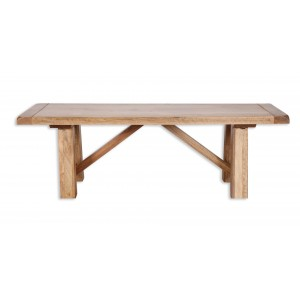 Farmhouse Light Mango Trestle Dining Table 2m