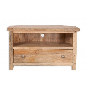 Farmhouse Light Mango Corner TV Unit