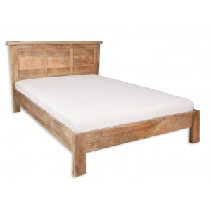 Farmhouse Light Mango King Size Bed Frame