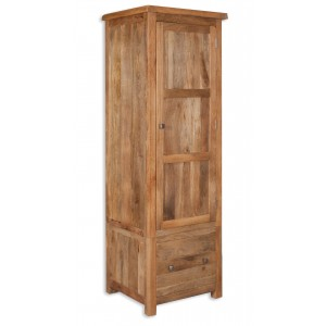 Farmhouse Light Mango Narrow Wardrobe