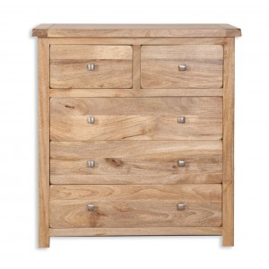Farmhouse Light Mango 2 over 3 Chest of Drawers