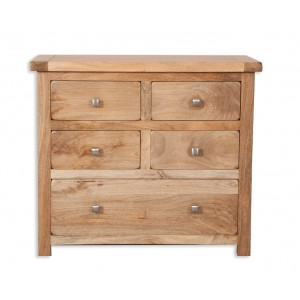Farmhouse Light Mango 4 over 1 Chest of Drawers