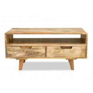 Oslo Light Mango 2-Drawer Coffee Table / TV Unit