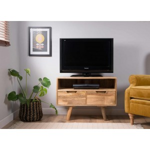 Oslo Light Mango Small TV Unit